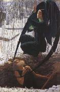 Carlos Schwabe The Grave-Digger's Death (mk19) oil